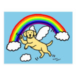 ❤️ Yellow Labrador Guardian Angel (Rainbow Bridge) Postcard