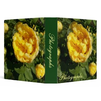 Yellow Roses Photo Binder binder