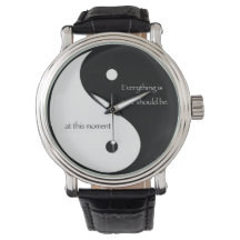 "Yin and Yang ""Everything is as it should be..."" Wrist Watch"