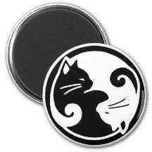 Yin Yang Cats Magnet