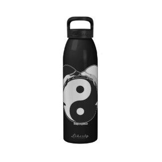 Yin Yang Dolphins Black/White Reusable Water Bottles