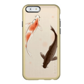 Yin Yang Koi fishes in oriental style painting Incipio Feather Shine iPhone 6 Case