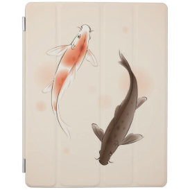Yin Yang Koi fishes in oriental style painting iPad Smart Cover