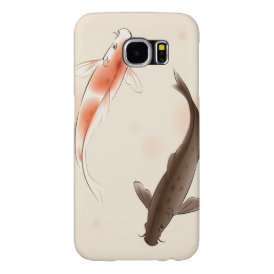Yin Yang Koi fishes in oriental style painting Samsung Galaxy S6 Case