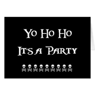Yo Ho Ho Pirate Birthday Party Invitation Greeting Cards
