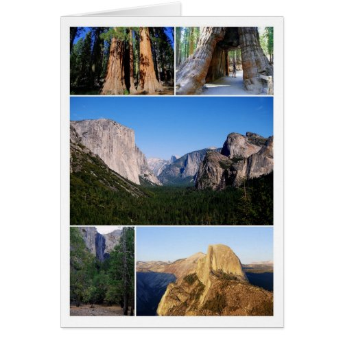 Yosemite National Park Collage Card
