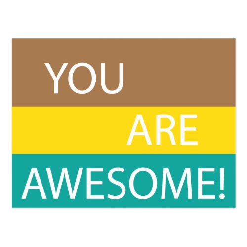 You are awesome postcard