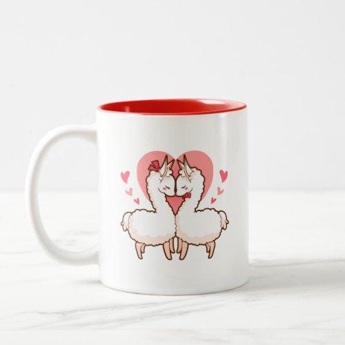 You are my Love Llama Two-Tone Coffee Mug