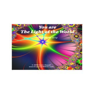 You are The Light of the World Canvas Print