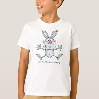You Make Me Hoppy Bunny Rabbit T-Shirt