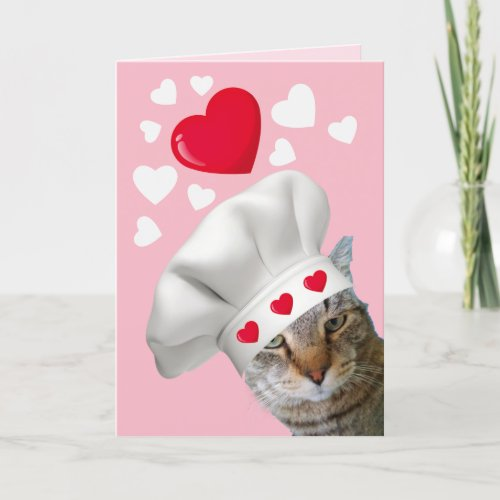 You Make My Heart POUND Cat Valentine's Day Holiday Card