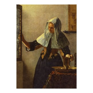 Young Woman with Water Pitcher - Johannes Vermeer Print