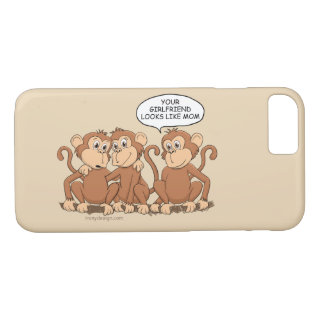 Your Girlfriend Looks Like Mom Funny Monkey iPhone 8/7 Case