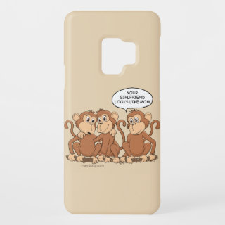 Your Girlfriend Looks Like Mom Funny Monkey Case-Mate Samsung Galaxy S9 Case