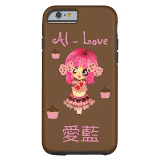 YOUR Name in Japanese and English Kawaii Cupcakes Tough iPhone 6 Case