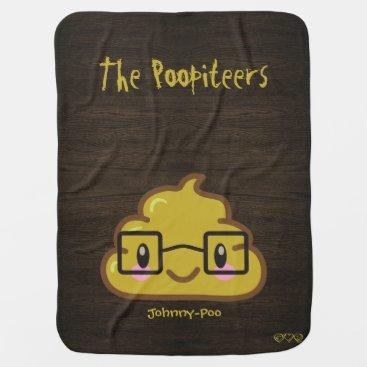 Your Name   Poo - Funny Kawaii Poopiteers Stroller Blanket