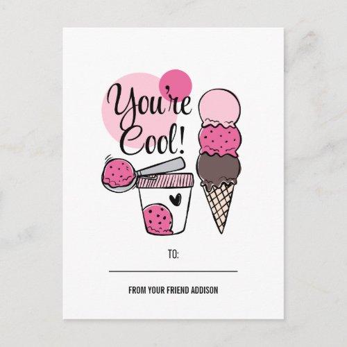 You're Cool Kids Classroom Valentine Postcard