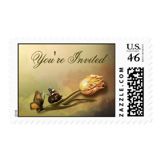 you're invited love postage stamps