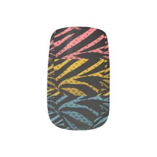 Zebra Pop Metal Texture Minx Nail Wraps
