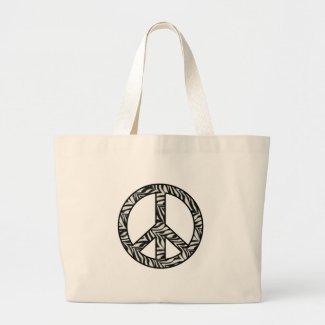 Zebra Print Peace Sign Tote bag