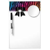 Zebra Rainbow Mirror Dry Erase Message Board Dry Erase Whiteboards
