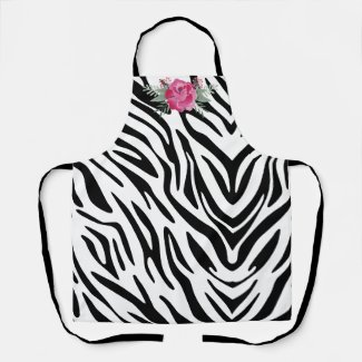 Zebra Stripes Personalize Apron