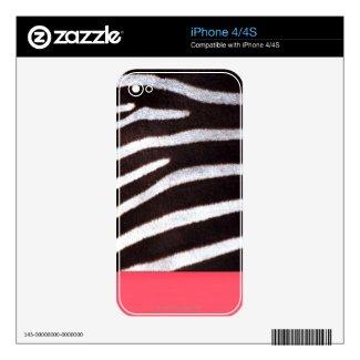 Zebra's Hide iPhone Skin