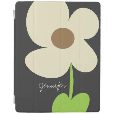 Zen Daisy Personalized iPad 2/3/4 Cover - Gray