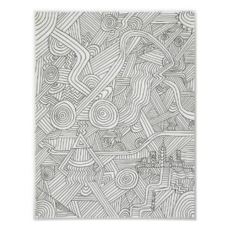 Zentangle Custom Art Poster