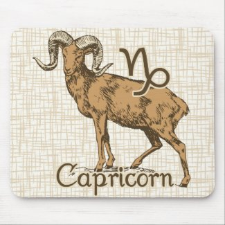 Zodiac Sign Capricorn Symbol Mouse Pad