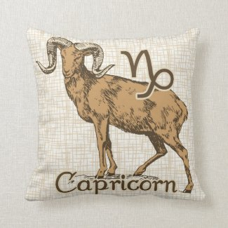 Zodiac Sign Capricorn Symbol Pillow