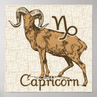 Zodiac Sign Capricorn Symbol Posters