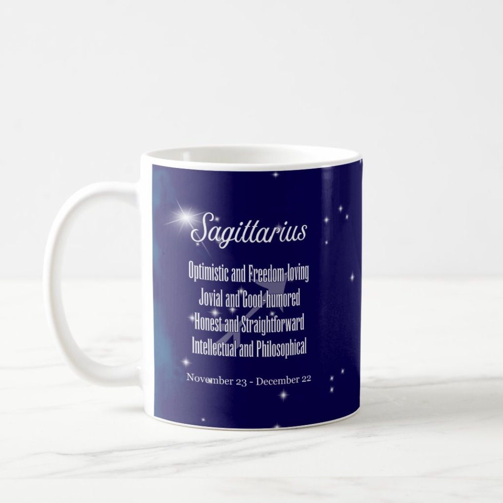 Zodiac Sign Sagittarius Constellation Coffee Mug