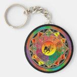 Zodiac Sign Sagittarius Mandala Keychain