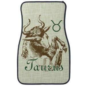 Zodiac Sign Taurus Symbol Car Floor Mat
