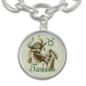 Zodiac Sign Taurus Symbol Charm Bracelet