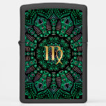 Zodiac Sign Virgo Mandala Zippo Lighter