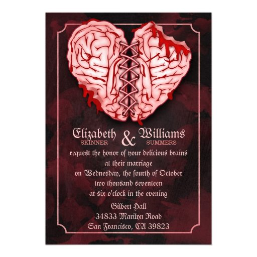 Personalized Zombie Wedding Invitations