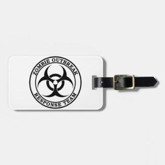 Zombie Outbreak Response Team (Biohazard) Travel Bag Tags