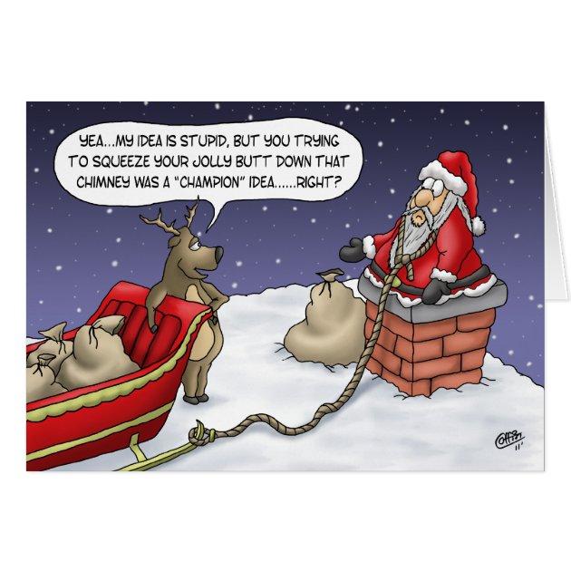 Lustige Weihnachtskarten Lustige Idee Grukarte Zazzle