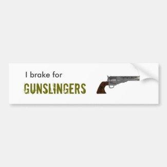 Pistolenheld-Autoaufkleber