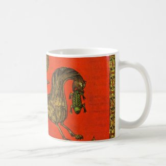 Dragón medieval taza básica blanca