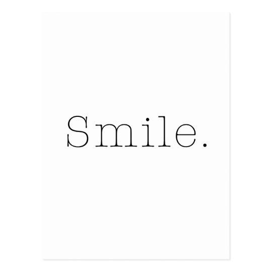 carte postale sourire modele noir et blanc de citation de
