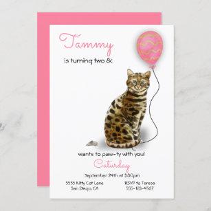 cartes anniversaire chat bengale