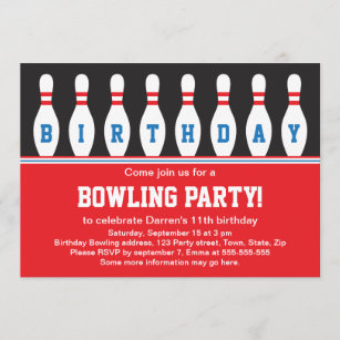 invitations faire part bowling