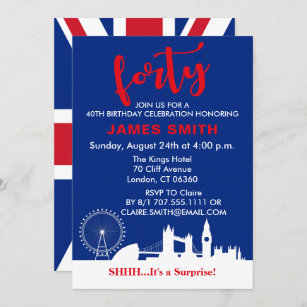 invitations anglais anniversaires