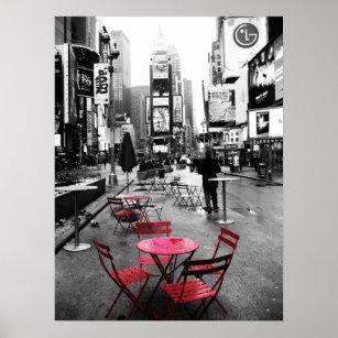 Posters Affiches Noir Et Blanc Rouge Zazzle Fr