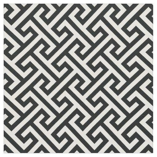tissu motif geometrique a touches de couleur noire et bl