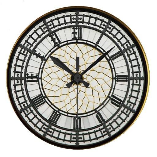 Visage Dhorloge De Londres Big Ben Grande Horloge Ronde