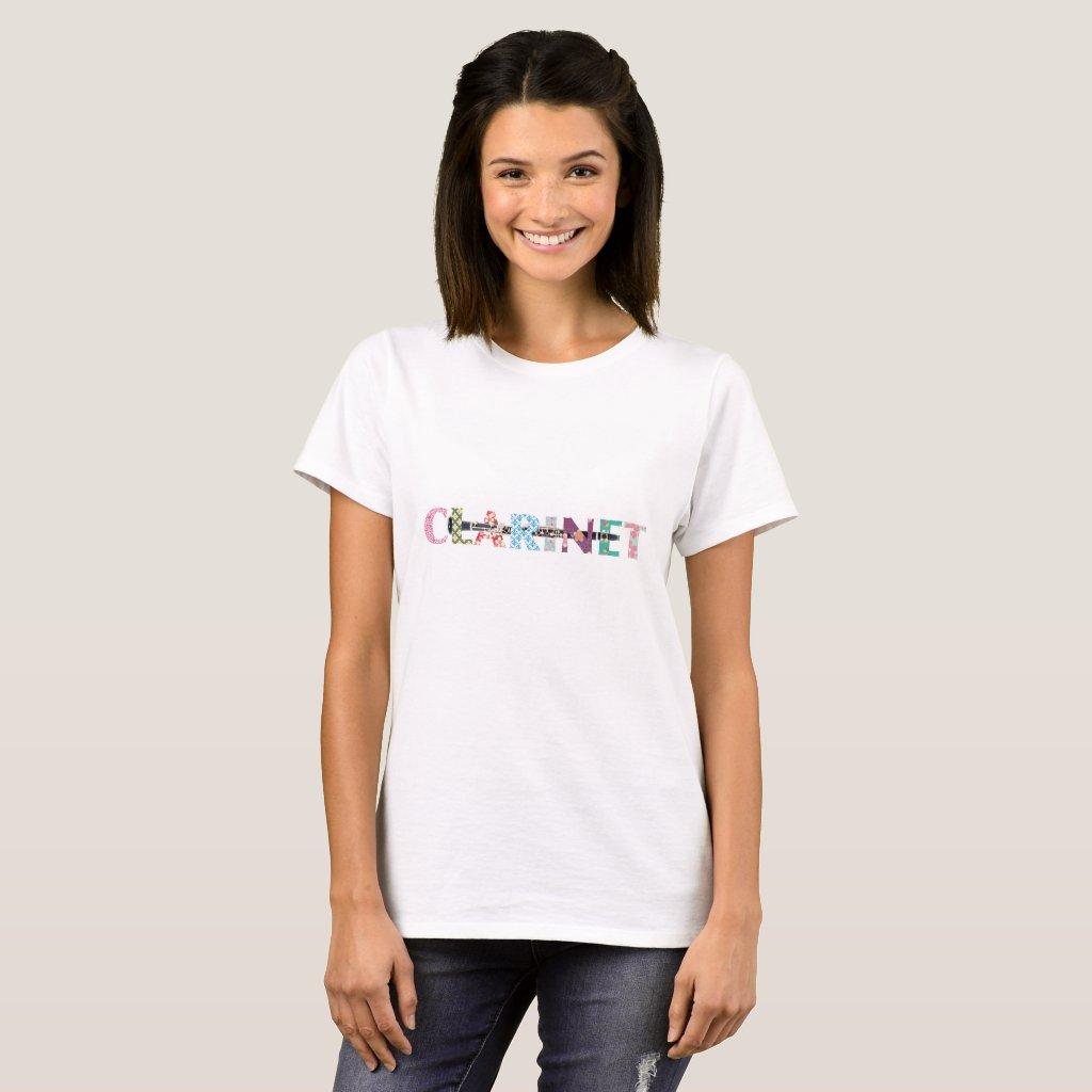 Clarinet T-shirts Japanese クラリネットTシャツ キモノ柄 Tシャツ